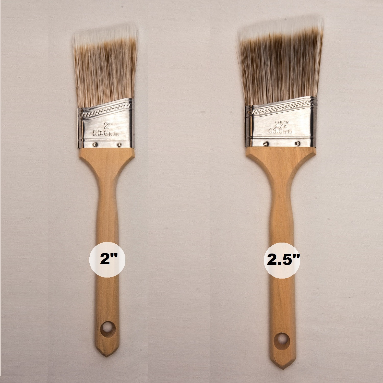 Gbs Angle Sash Polyester Paint Brush Set 2 2 5 Inches Multi Usage For Painters Professionals Homeowners Diy Durable Top Quality Long